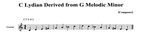C Mixolydian Dominant derived from F Melodic Minor.jpg